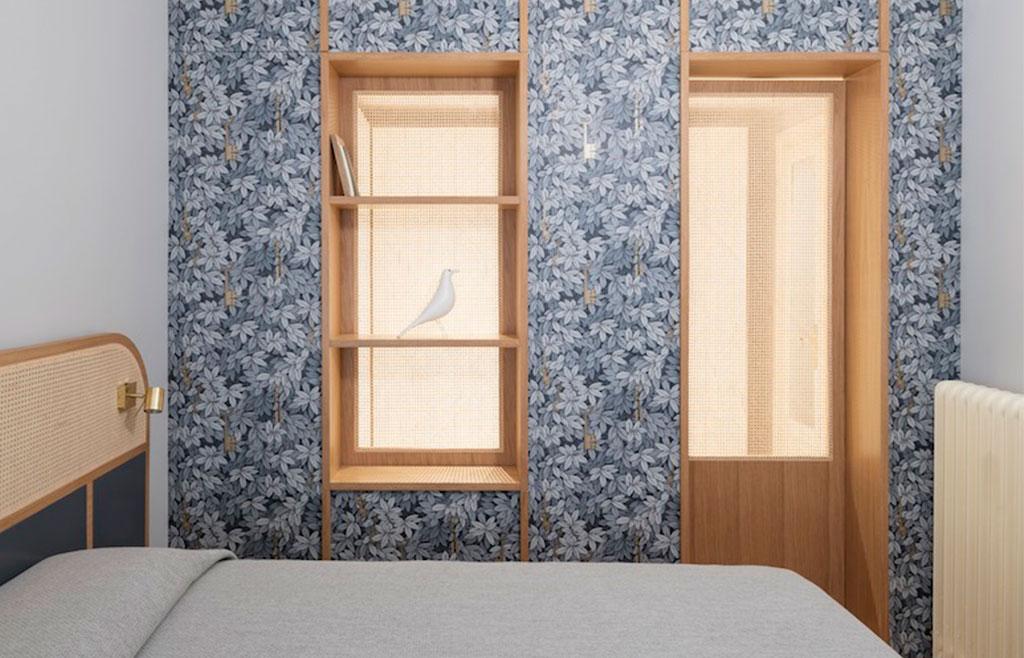 camera letto inserti paglia vienna