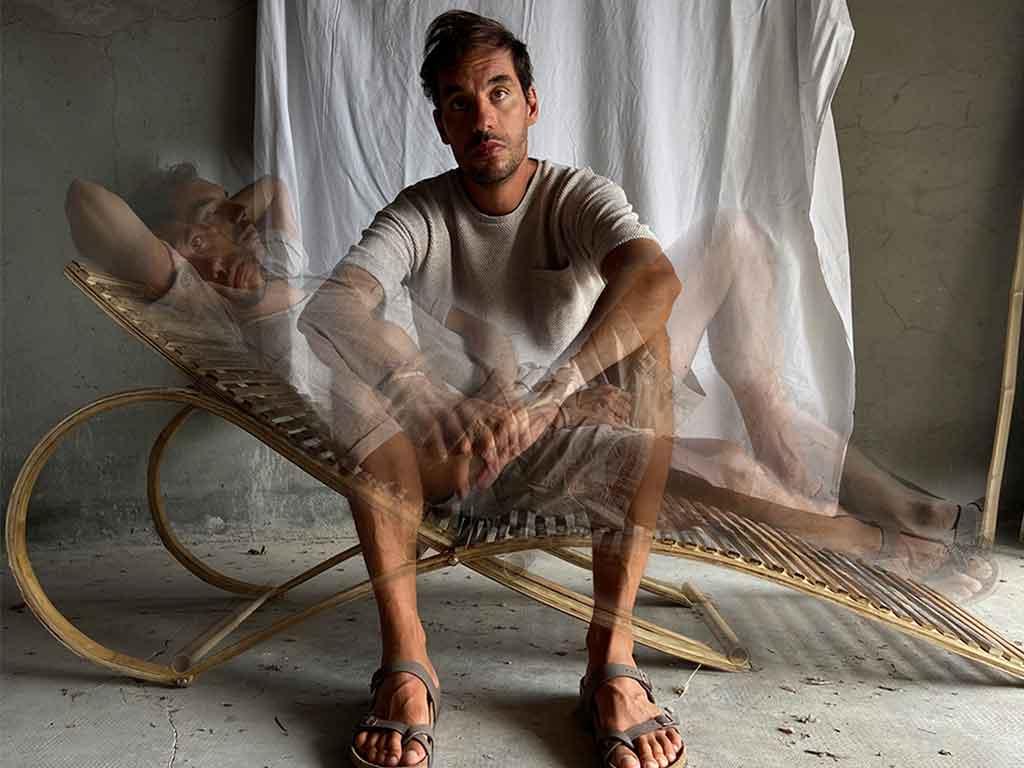 chaise longue bambu