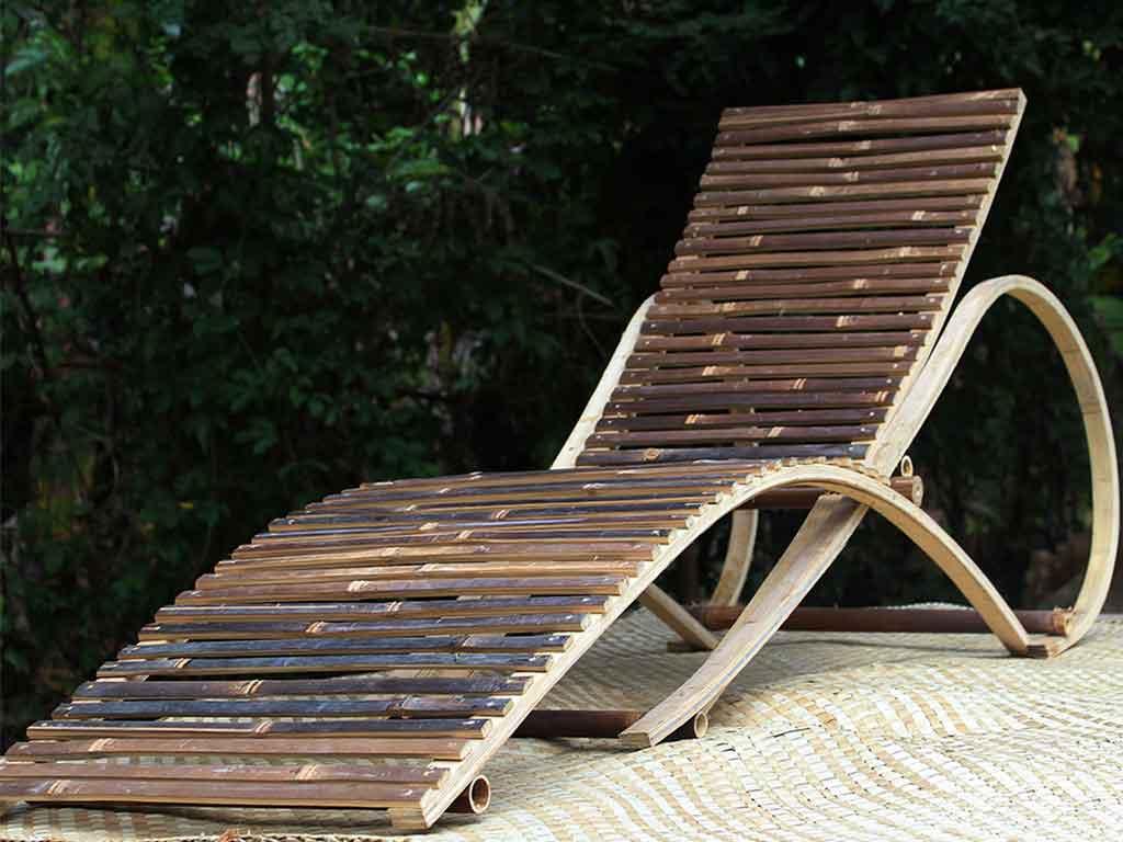 chaise longue bambu smontabile