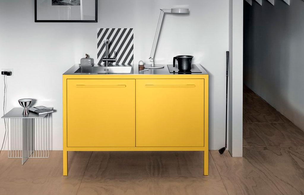 cucina freestanding giallo