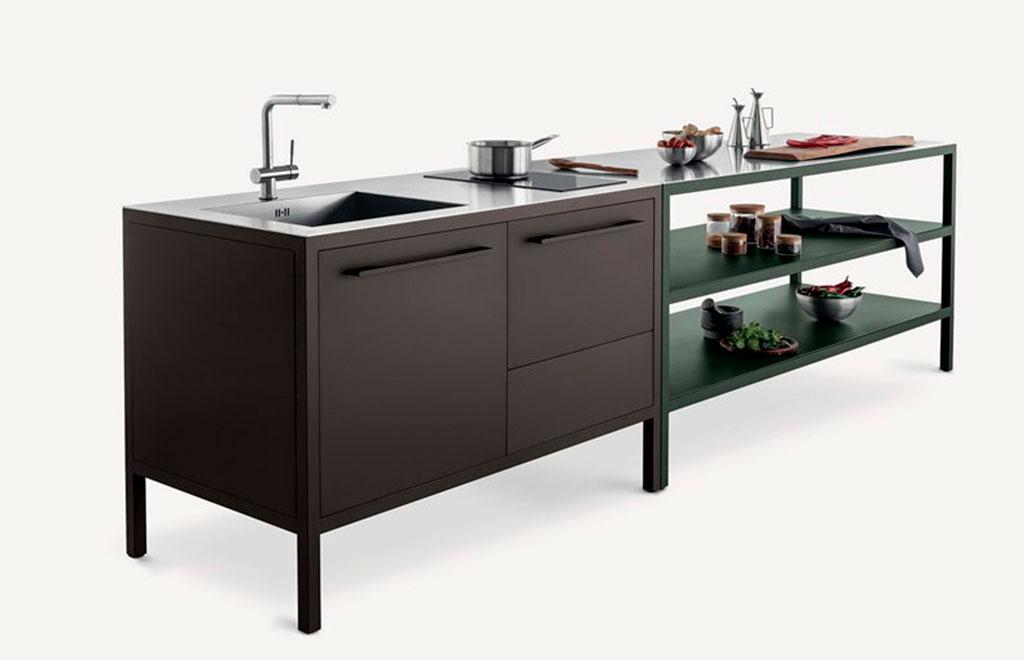cucina freestanding scura