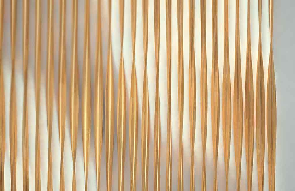 dettaglio lampada bambu led