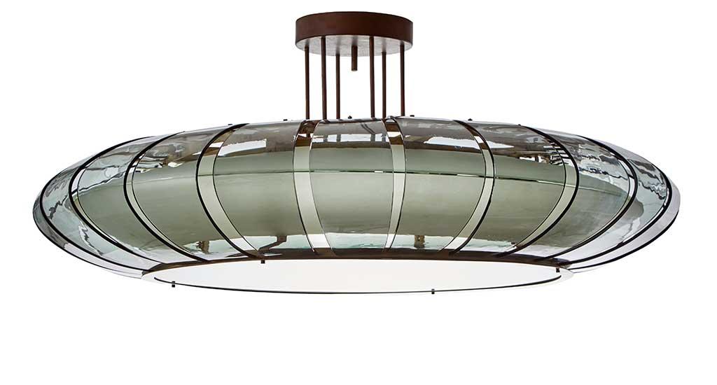grande lampada a sospensione circolare