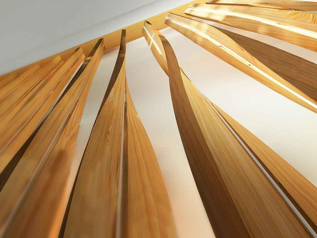 illuminazione foresta bambu