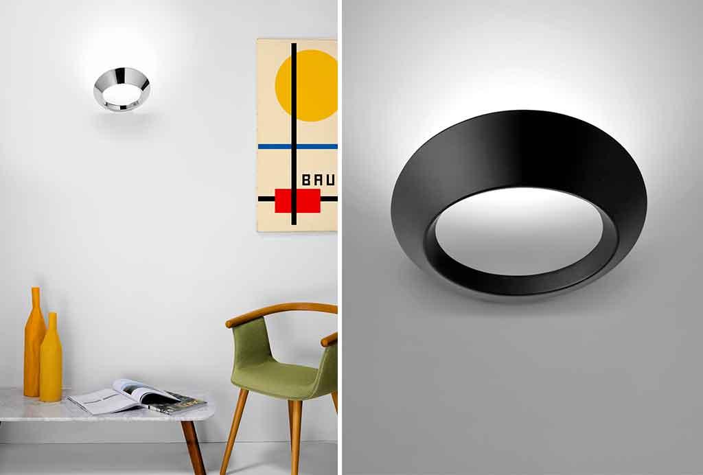 lampada parete circolare