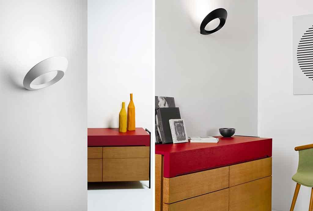 lampade parete bianco nero