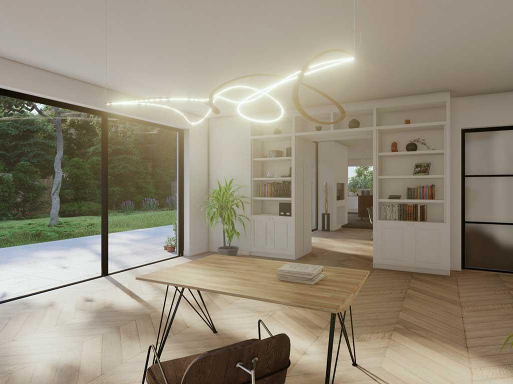 lampada vortex bambu