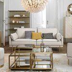 living moderno divano beige mobili oro