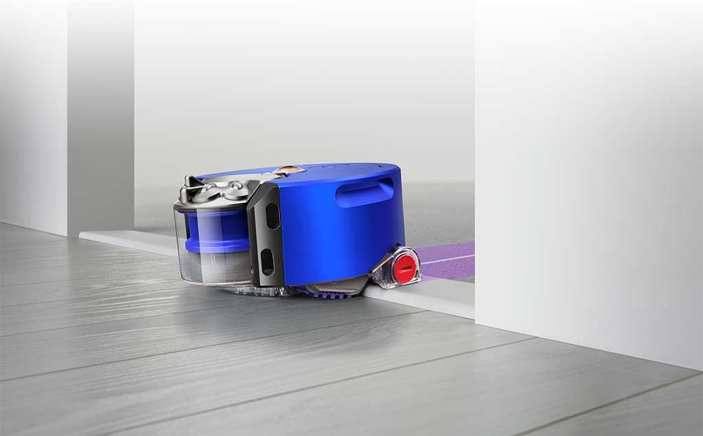 robot aspirapolvere blu