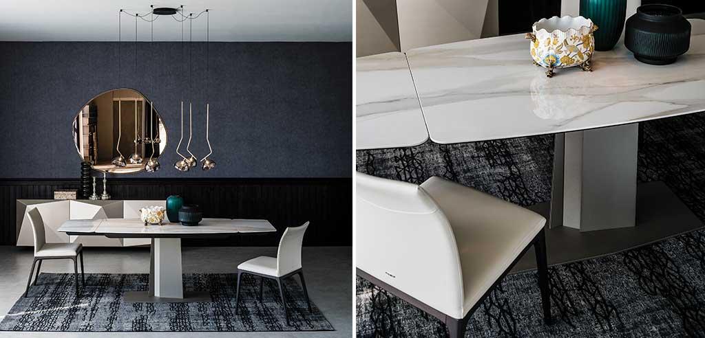 tavolo allungabile marmo