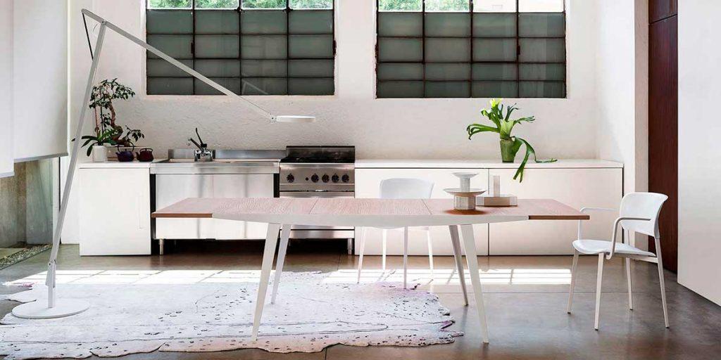 tavolo allungabile piano legno