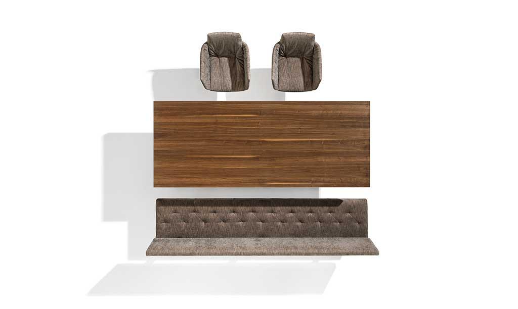 tavolo rettangolare vista alto legno