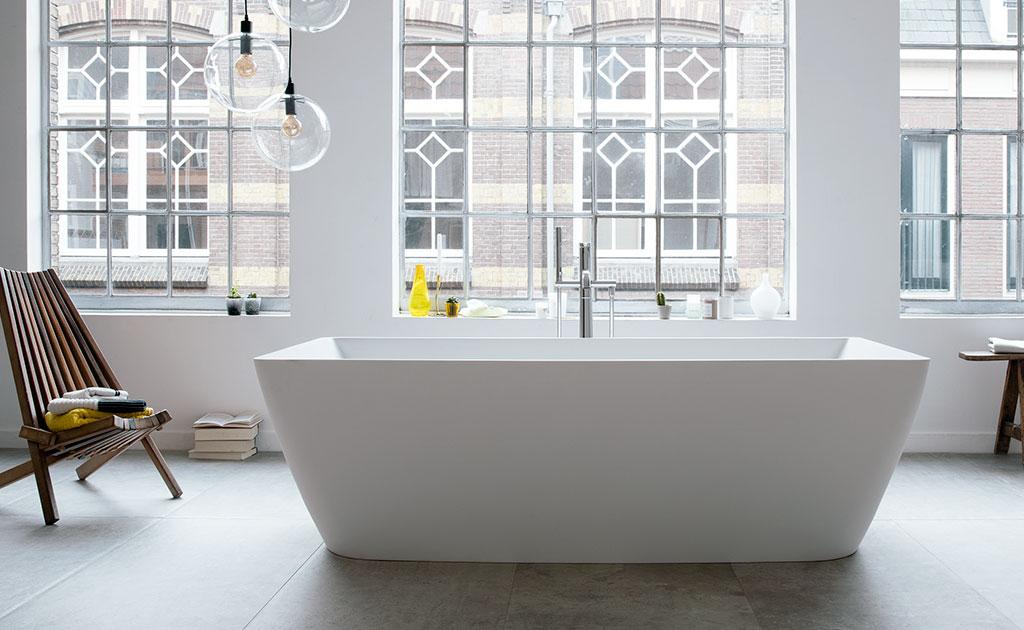 vasca rettangolare freestanding