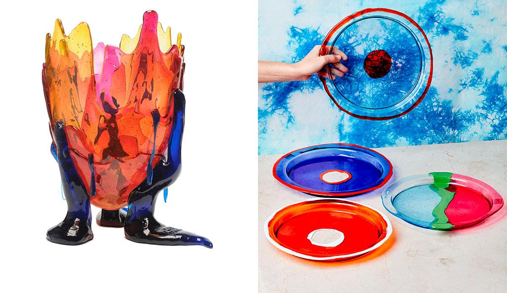 vassoi e vaso fish design