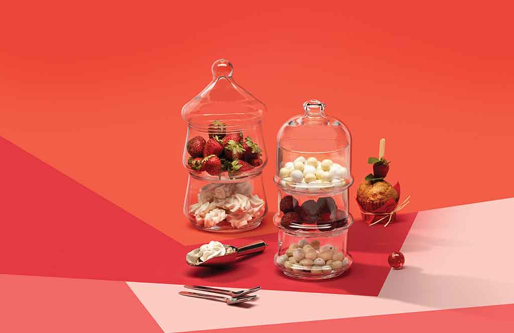 dolci in vetro contenitori