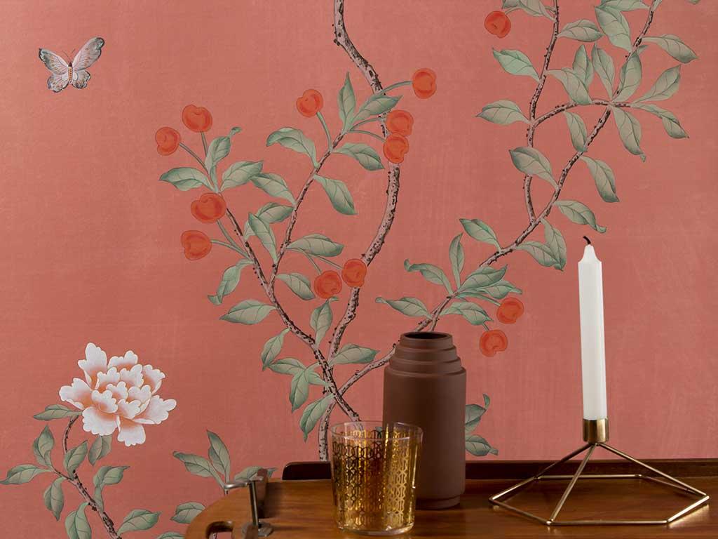 carta parati albero giapponese