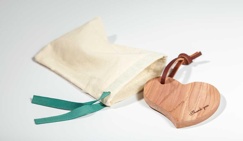 cuore grande legno cedro