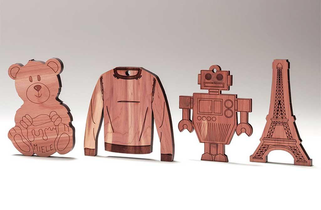 figurine legno cedro rosso
