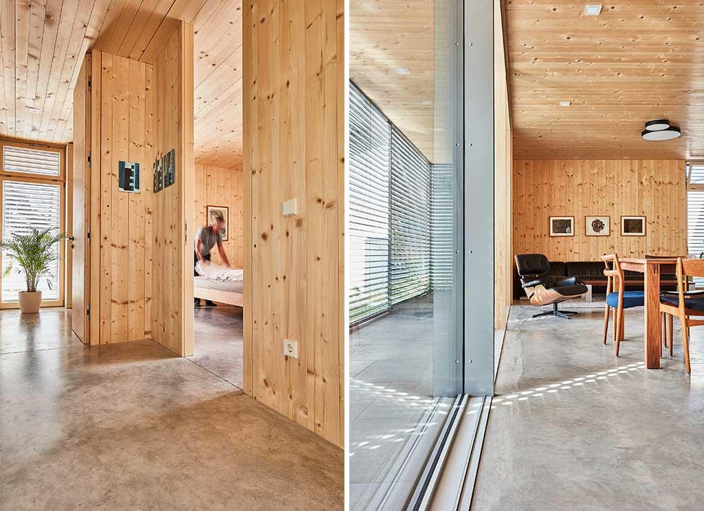 interni casa legno camere
