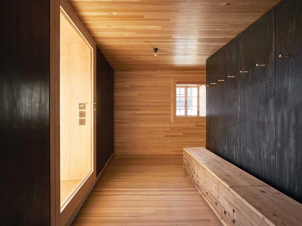 interno legno chalet