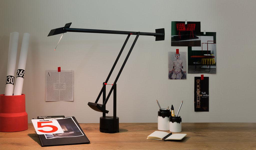 lampada da tavolo tizio nera