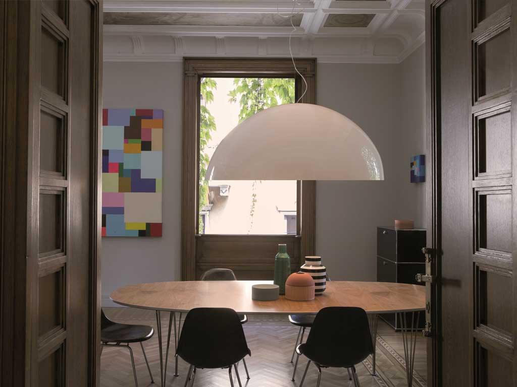 lampada a sospensione design Magistretti