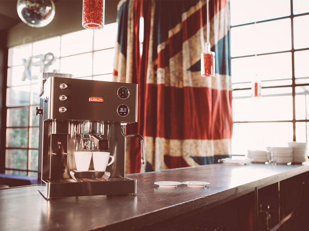 macchina caffe espresso acciaio