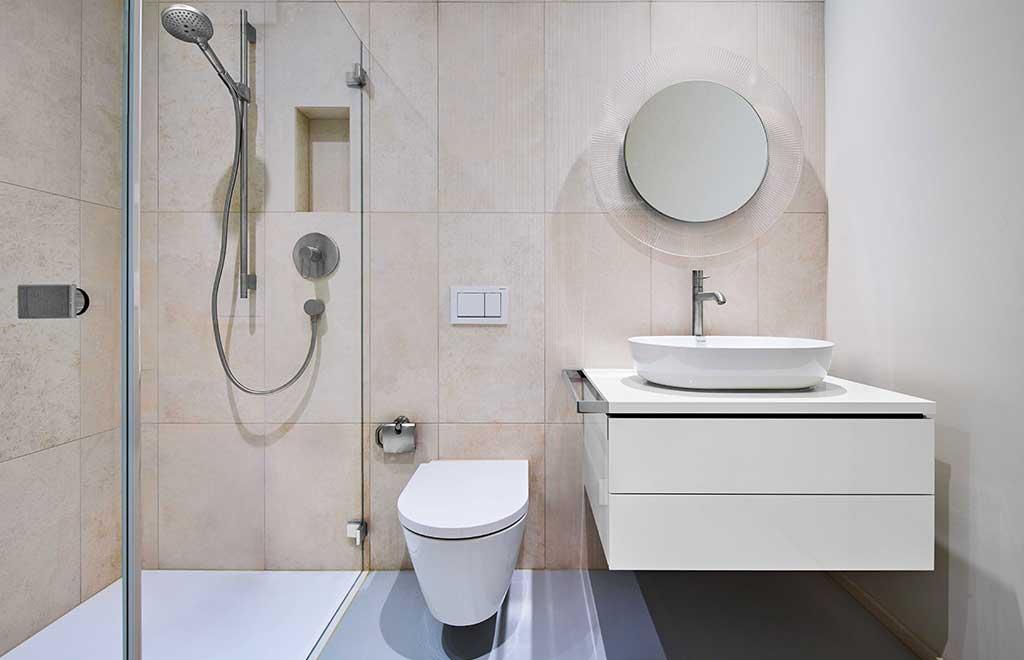 mobile bagno specchio tondo