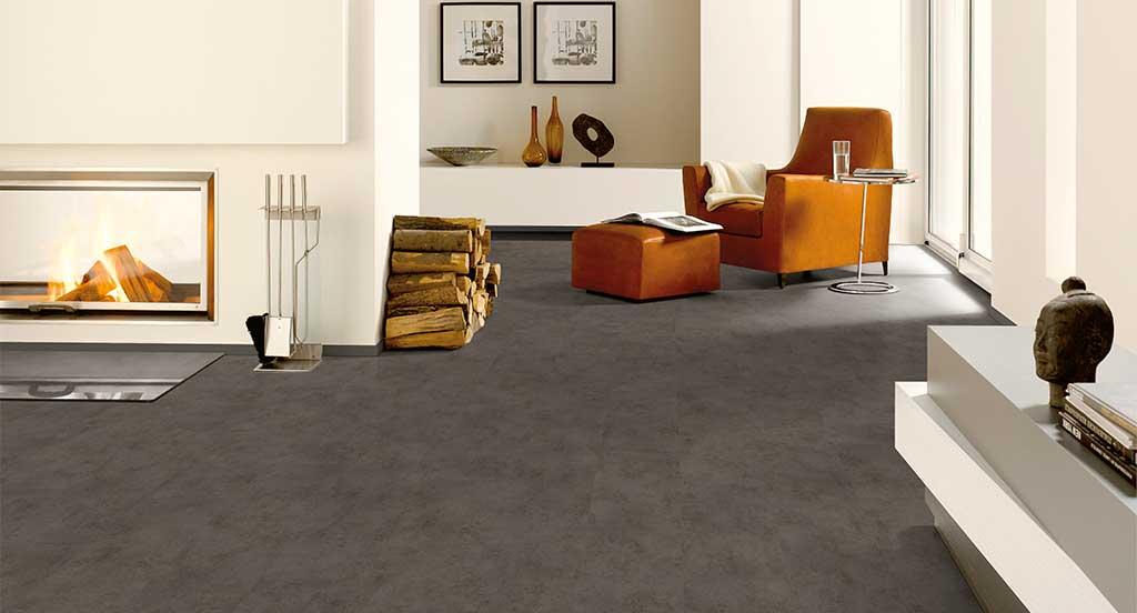 pavimento laminato effetto cemento