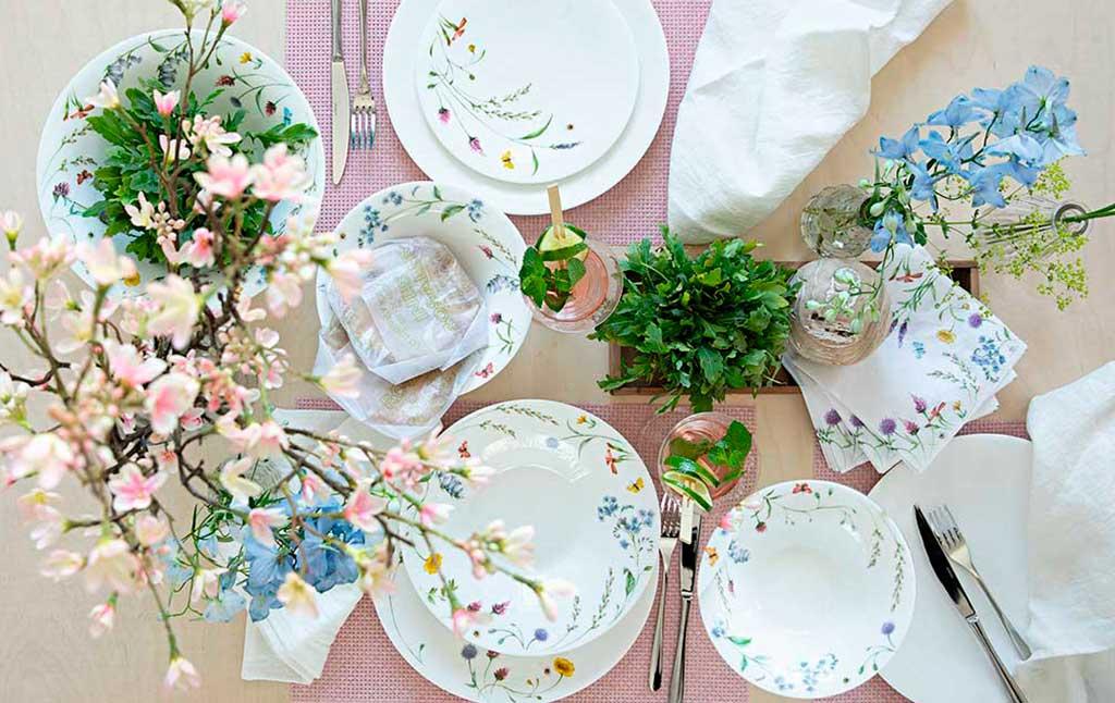 piatti decoro fiori