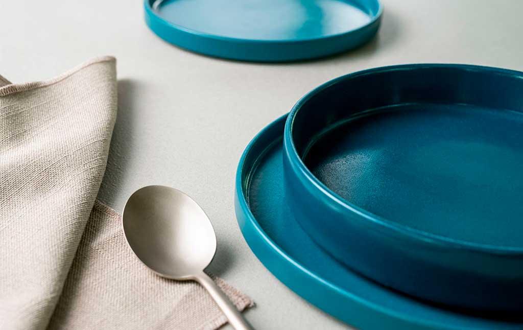 piatti piani blu