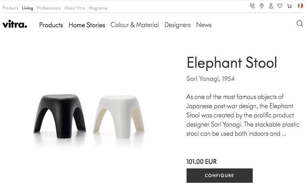 sgabello elefante