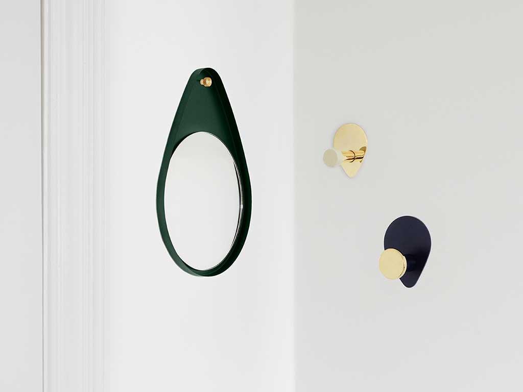 specchio goccia verde