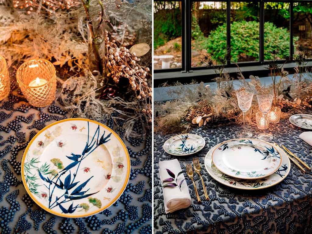 tavola natale piatti decorati