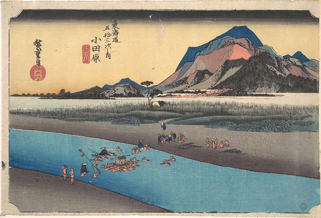 stampa ukiyoe hiroshige Hokkaido