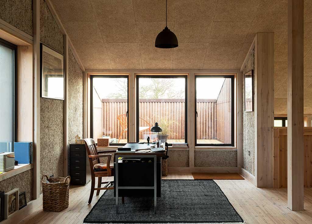angolo studio casa legno