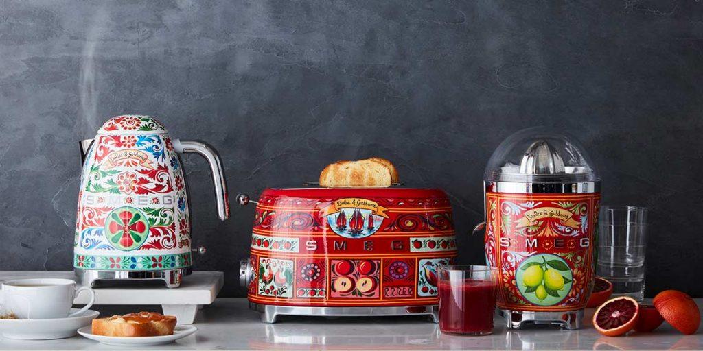bollitore tostapane spremiagrumi decorazioni siciliane