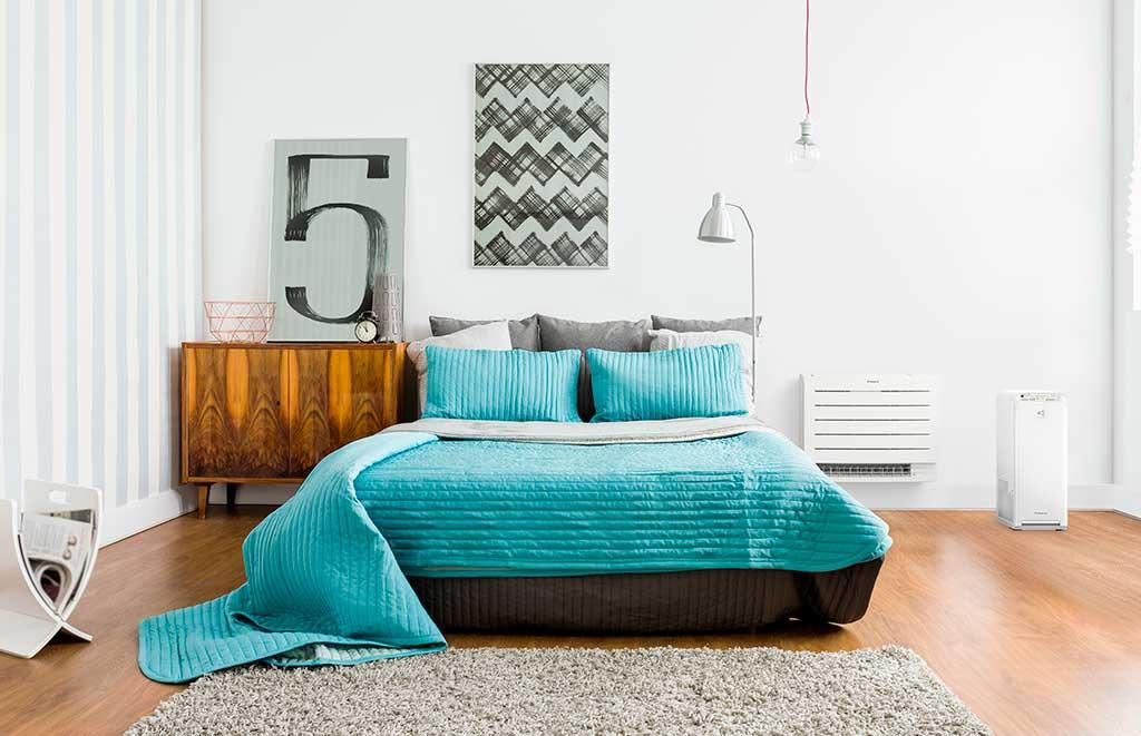 climatizzatore a pavimento camera letto