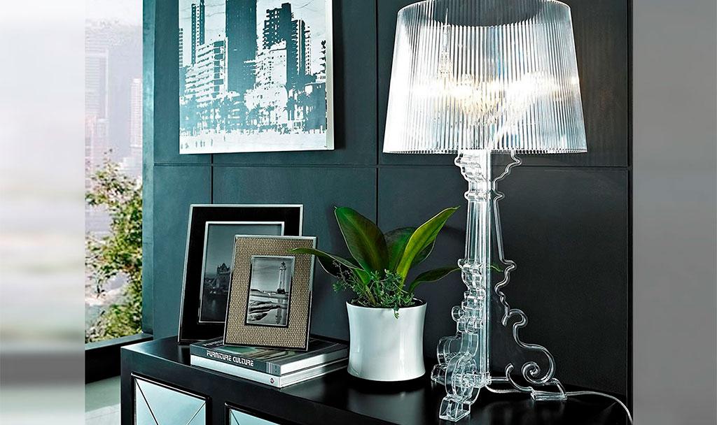 lampada tavolo trasparente design
