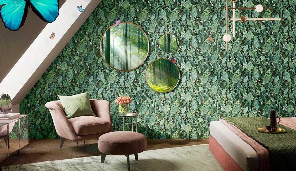 gres decorato parete