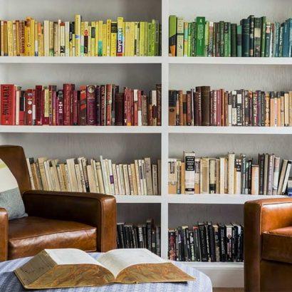libri ordinati per colore