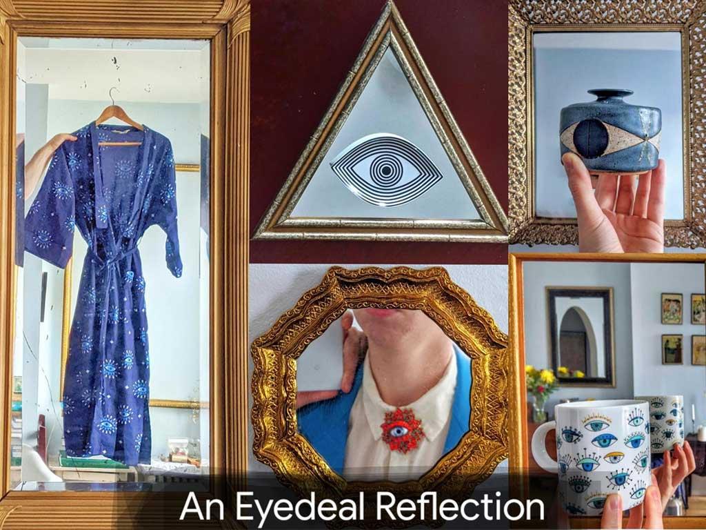 collezione oggetti con occhi