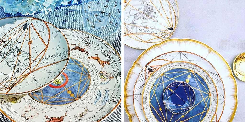 piatti ceramica segni zodiaco