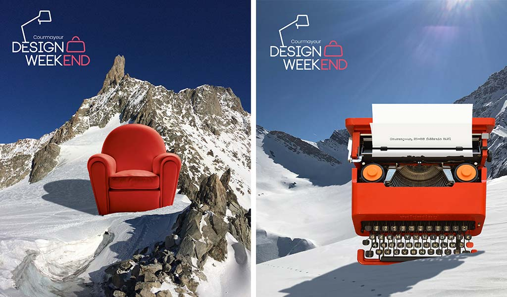 poster courmayeur design weekend