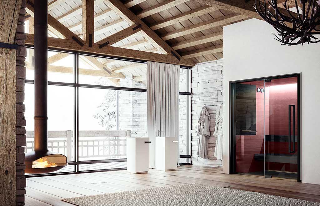 sauna interno casa prugna