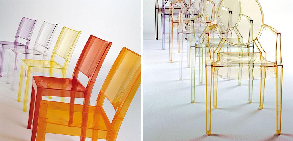 sedie policarbonato colorate