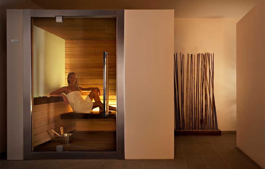 sauna illuminata