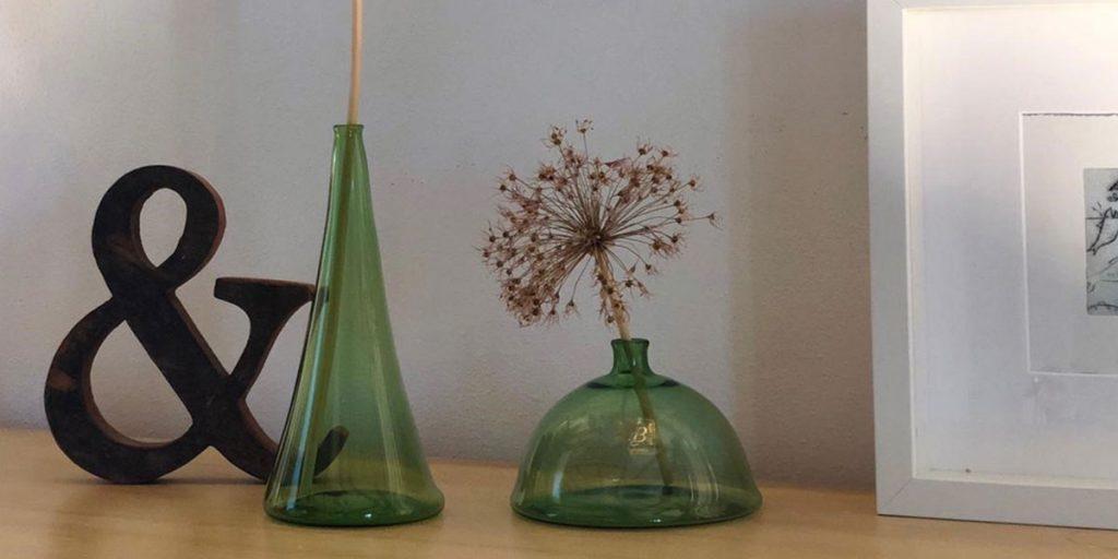 vasi murano verdi