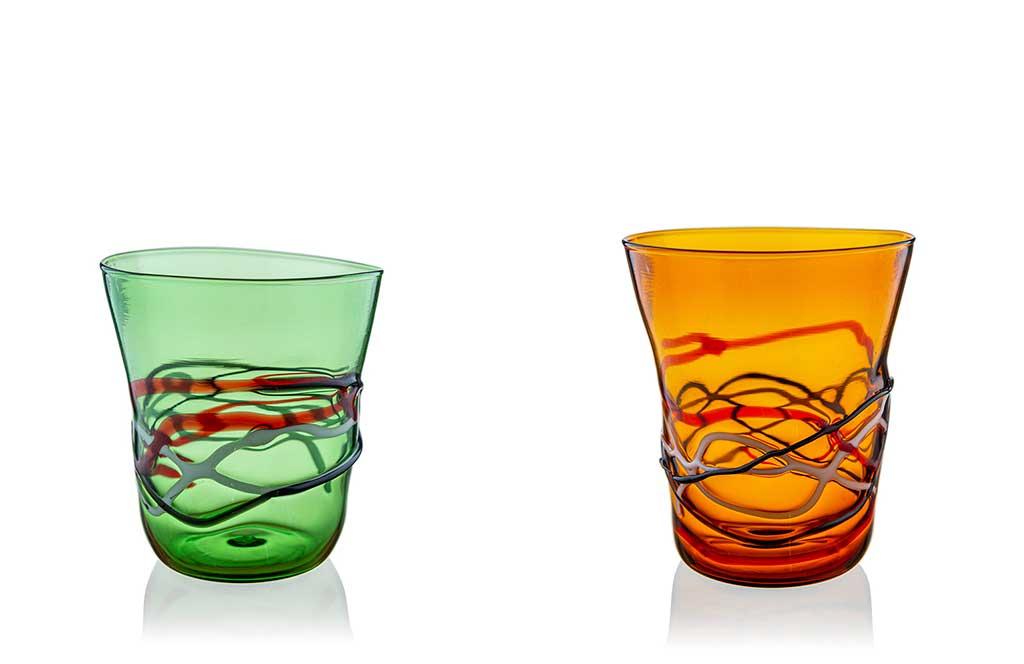 bicchieri murano fatti a mano