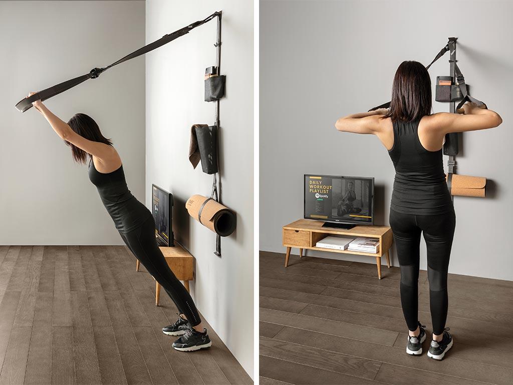 allenamento in casa con fasce fitness